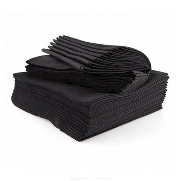 toalla desechable negra